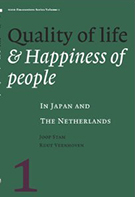 Buchcover Joop Stam, Ruut Veenhoven (Hrg.): Quality of Life & Happiness of People in Japan and the Netherlands
